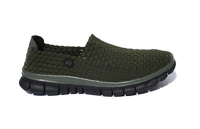 Navitas Green Lite Weave Slip On Bivvy Slipper Weaves Shoes *All Sizes* • 24.95£