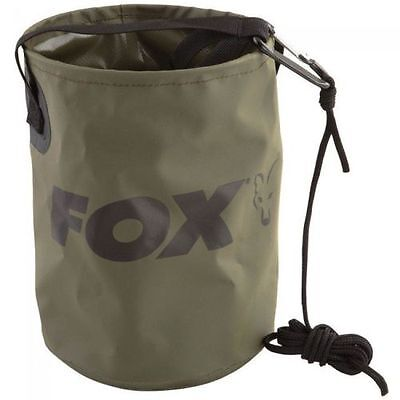 Fox Collapsible Water Bucket 4.5L Inc Rope & Clip - CCC040 • 10.95£