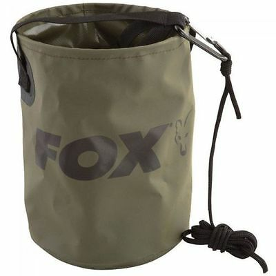 Fox Collapsible Water Bucket 4.5L Inc Rope & Clip - CCC040 • 9.95£