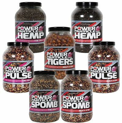 Mainline NEW Carp Fishing Power Plus Particles Hemp Cell Tigers *All Types* • 13.99£