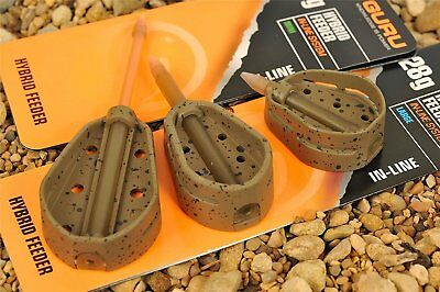 Guru Inline Hybrid Feeders X2 NEW Coarse And Match Fishing Pellet Feeders • 5.50£