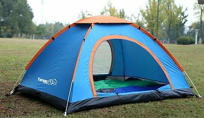 TurnerMAX Outdoor KANGTO 4 Person Easy Pop-Up Camping Hiking Fishing New Tent • 32.99£