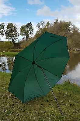 98  2.5m BISON TOP TILT FISHING UMBRELLA BROLLY SHELTER WITH TAPED SEEMS • 25.99£