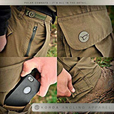 Korda Polar Kombats Fishing Thermal Combats Trousers Dark Olive *All Sizes* • 59.99£