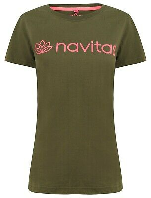 Navitas Womens Lily T-Shirt Green And Pink Tee Top NEW Carp Fishing • 12.99£