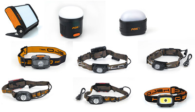 Fox Halo Headtorch Head Torch & Bivvy Light *ALL TYPES* NEW Carp Fishing • 48.99£
