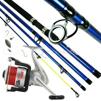 SEA FISHING TRAVEL ROD & REEL 9ft X-TREME WITH SEA RIG NGT. 75CM CLOSED • 30.69£