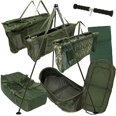 New Fishing Weigh Slings Carp Cradles Landing Unhooking Mats Weigh Tripods Ngt • 19.95£