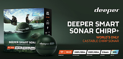 Deeper Smart Sonar CHIRP+ Fish Finder GPS NEW Chirp Plus Castable Fish Finder • 269.99£