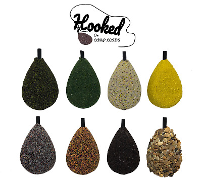 10 X Inline Flat Pear Carp Leads - 3oz - Speckled Brown • 9.95£