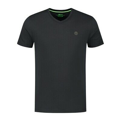 Korda Kore V Neck Tee Black *All Sizes* Fishing T-Shirt NEW  • 14.99£
