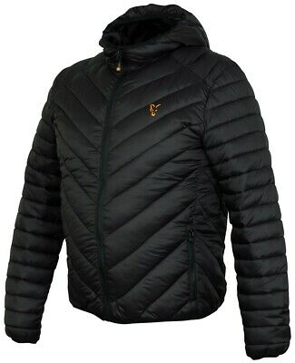 Fox Collection Black And Orange Quilted Jacket NEW *All Sizes* Carp Clothing • 59.99£