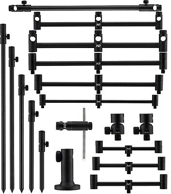 ND Tackle Carbon Adjustable Bankstick 3 Rod Buzz Bar Stabilizer Stage Stand 2rod • 19.90£