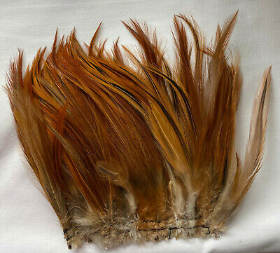 Natural Red Rooster Hackle 100+ Feathers  Fly Tying Millinery Crafts UK Seller  • 1.99£