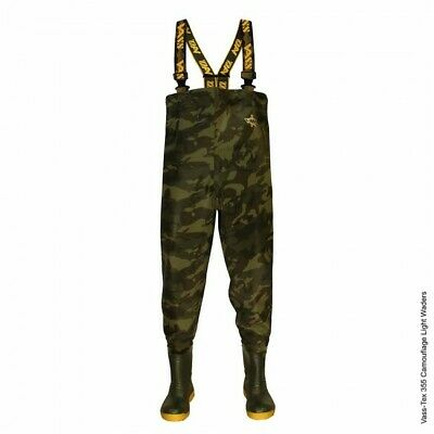Vass 355 Lightweight Camo Waders *All Sizes* NEW Carp Fishing Waders • 99.95£