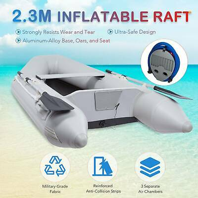 2.3M Inflatable Boat Hunting Fishing Raft For Adults On Lakes Rivers More • 235£