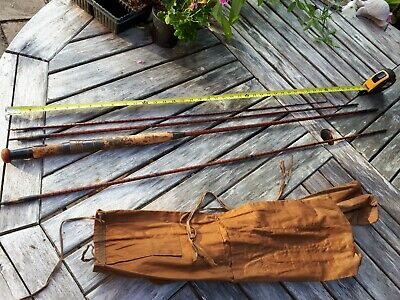 Vintage Hardy Fly Rod For Restoring, About 9ft 10 Ins And 3 Sections Plus 1. • 33£