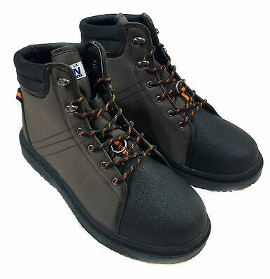 Bison Mk2 Wading Boots In Felt Sole Or Rubber Sole With Free Wading Studs • 39.99£