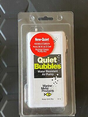Marine Metal B14 Quiet Bubbles Air Pump Aerator, Live Bait, Pike Fishing, Perch • 5.19£