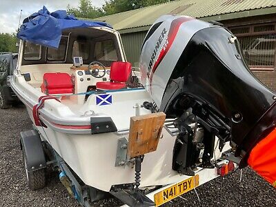 Dell Quay Dory 17 With 100hp Mariner 4 Stroke Power Tilt Trim  Outboard Trailer • 9,750£