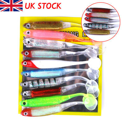 10Pcs Savage Cannibal Shads Rubber Pike Perch Chub Lure Bait Drop Shot Gear • 5.99£