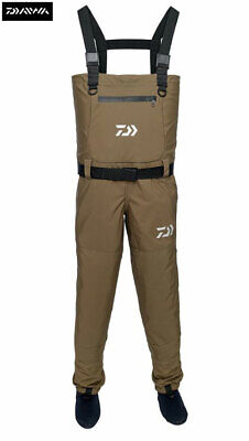 Clearance New Daiwa Breathable Chest Waders Khaki - All Sizes • 69.99£