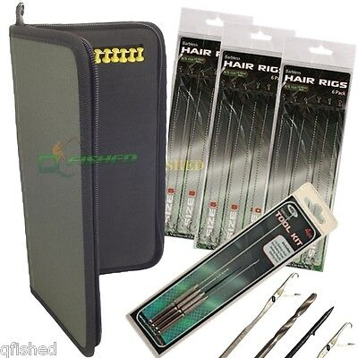 Brand New Carp Rig Wallet And 20 Pins + 18 Hair Rigs & 4pc Needle Set • 14.95£
