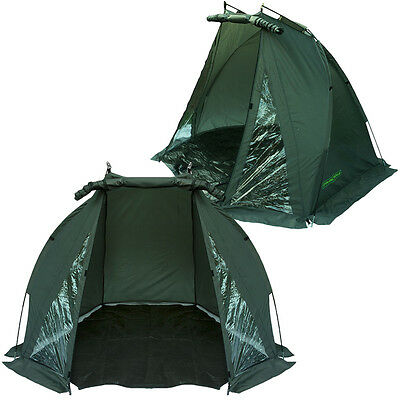 Carp Fishing Bivvy Tent Shelter Day Shelter Waterproof With Bag And Ground Sheet • 38.45£
