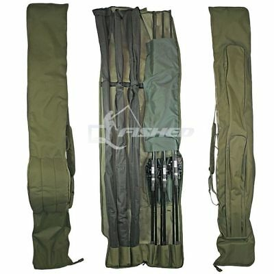 3+3 DELUXE ROD AND REEL HOLDALL BAG 12ft RODS CARP FISHING ROD BAG 618 • 32.08£