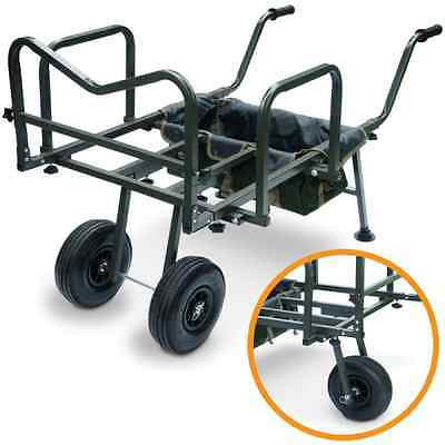 New Dynamic Carp Fishing Barrow With Storage Bag Double Or Single Wheel Trolley  • 99.95£