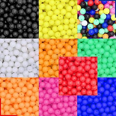 Sea Fishing Beads 6 Or 8 Mm Mixed Colours 5, 25, 50, 100, 250, 500, 1000 • 8.74£