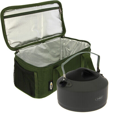 NGT Fishing Insulated Brew Kit Cool Bag With 1.1L Kettle Carp Coarse Fishing Set • 32.83£
