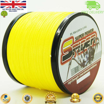 Super 100-2000M 15-90LB Fishing Braid Carp Line Banana Yellow Spod Marker • 22.99£