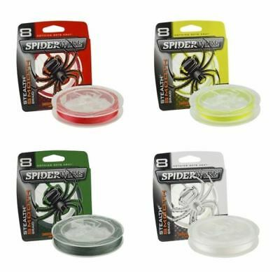 SPIDERWIRE STEALTH SMOOTH 8 FISHING BRAID ALL COLOURS (300 Mtrs) • 21.95£