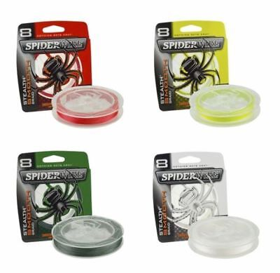 SPIDERWIRE STEALTH SMOOTH 8 FISHING BRAID ALL COLOURS (150 Mtrs) • 14.89£