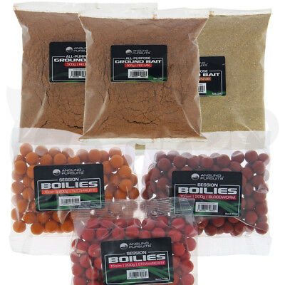 Carp Coarse Fishing Bait Set 3 X Packs Of Boilies And Groundbait Mixed Flavours • 12.15£