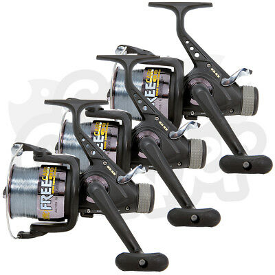 3 X Lineaeffe Free Carp 60 3BB Carp Runner Fishing Reels Spooled With 15lb Line • 40.96£