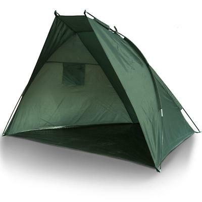 Fishing Day Shelter Bivvy Sewn In Ground Sheet With Green Fishing Storage Bag • 28.95£