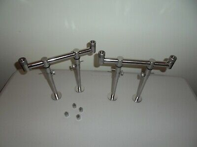 TMC 2 X 2 Rod Stainless Steel 20cm Buzz Bars + 4 X Stage Stage Stand Bank Sticks • 29.99£