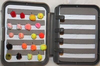 20 Egg Fly Selection Mixed Colours In A FREE FLY BOX  • 9.34£