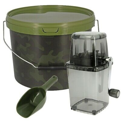 Ngt Grinder System Bait Bucket 10l Baiting Spoon For Fishing Carp Boilies Spod • 19£