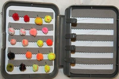 20 Egg Fly Selection Mixed Colours In A FREE FLY BOX FREE POSTAGE • 8.49£
