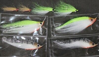 Saltwater Fly Fishing Bass Selection Flies • 8.38£