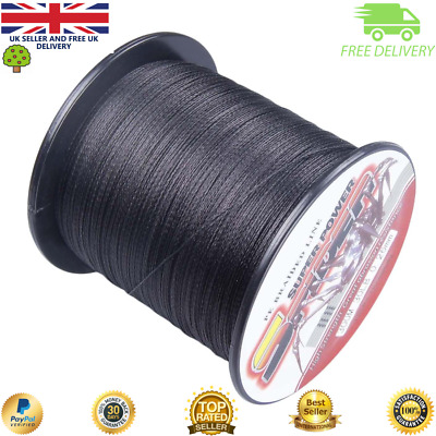 Super Dyneema 100-2000M  15-90LB Fishing Braid Carp Line Army Black Spod Marker • 28.99£