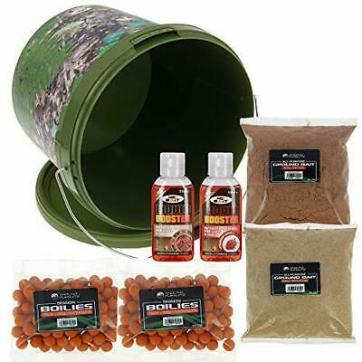 NGT Carp Coarse Fishing Bait Bucket Set 5L Bucket Boilies Groundbait And Liquids • 16.45£
