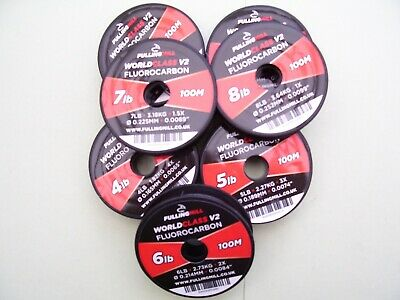 Fulling Mill Fluorocarbon NEW Updated V2 World Class 100 Meters • 10.49£