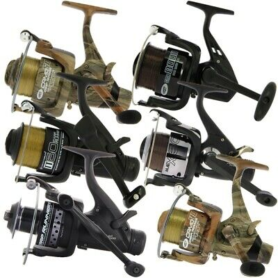 Carp Fishing Bait Reels Runner With Fishing Line Black, Camo Fishing Tackle • 34.87£