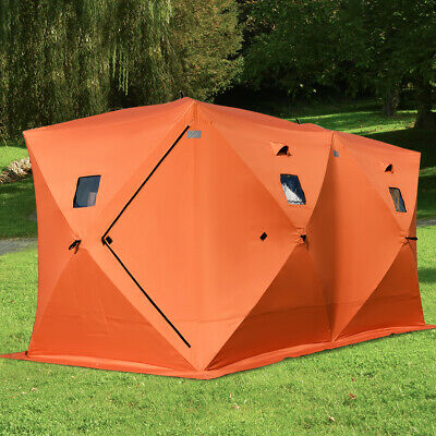 Large Waterproof 8 Person Portable Night Fishing Tent Camping Hiking Shelters • 129.99£