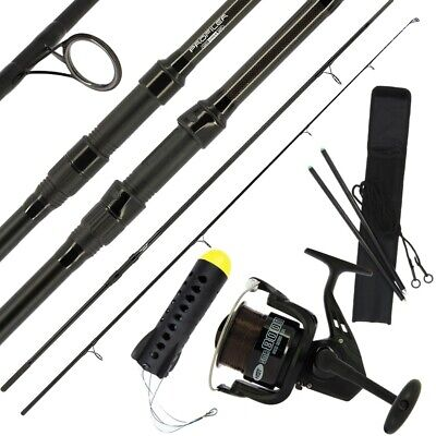 NGT FISHING SPOD ROD 12ft 2pc + REEL, MARKER DISTANCE STICKS,  SPOD CARP SET 5TC • 69.95£