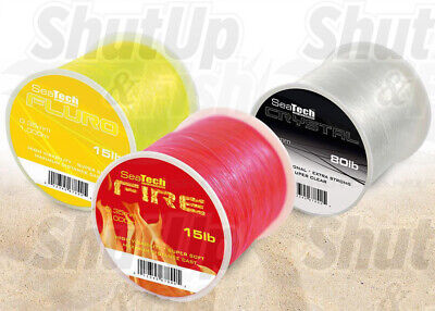 SeaTech Extra Strong Sea Fishing Line Various Colours And Sizes 10lb - 80lb • 7.49£